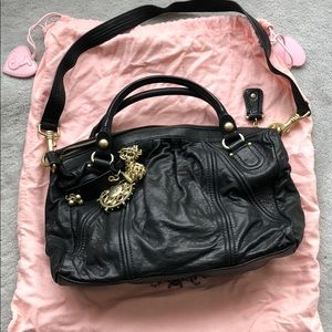 Juicy Couture black leather bag